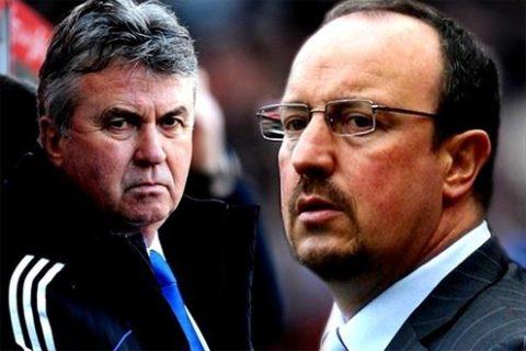 Trong lần đầu chạm trán Benitez, liệu Hiddink có giúp Chelsea đạt được một kết quả khả quan, để Chelsea tiếp tục mơ về ngôi báu Champions League mùa này?. Ảnh: UEFA.