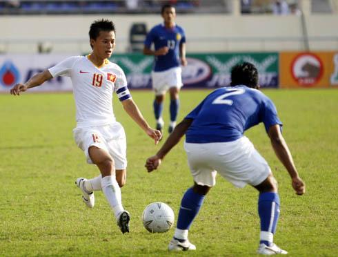 Thành Lương (trái) tại SEA Games 2009. Ảnh: An Nhơn.