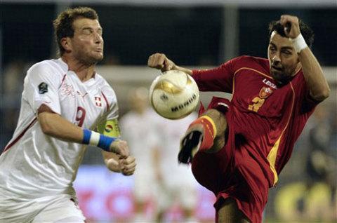 Montenegro leo lên dẫn đầu bảng G sau trận thắng Thụy Sỹ hôm 9/10. Ảnh: AFP.
