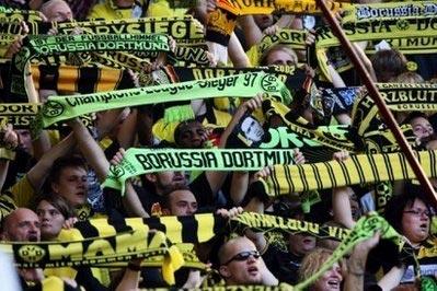 Các CĐV của đội Borussia Dortmund.
