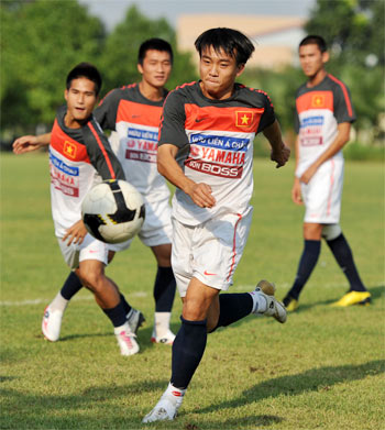 U23 Việt Nam cùng bảng với Iran, Bahrain, Turkmenistan ở ASIAD 2010. Ảnh: Hoàng Hà.