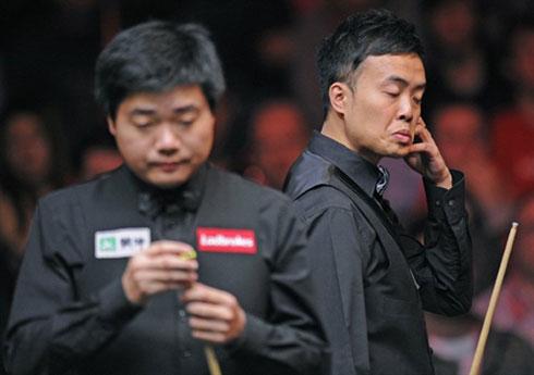 Marco Fu (phải) không thể nối dài chuỗi bất ngờ mà anh tạo nên ở các vòng trước.