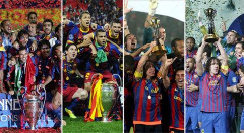 Thế hệ Barca dưới trướng HLV Guardiola từ năm 2008 đến nay trở nên vĩ đại nhờ chinh phục hầu hết những danh hiệu cao quý nhất bóng đá thế giới. Ảnh: Diaro Sport.