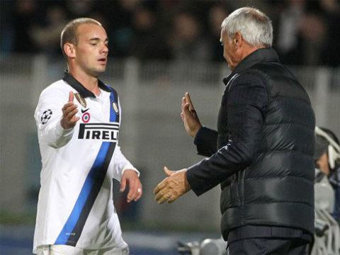 Dưới thời Ranieri, Sneijder không còn vị thế bất khả xâm phạm.