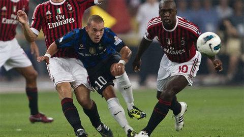 Derby Milan từng là sân khấu để Sneijder chào hàng tài năng và đẳng cấp của anh khi mới đến Serie A.