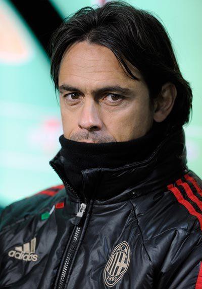 Lần đầu tiên kể từ khi đến Milan, Inzaghi chưa có bàn nào trên mọi mặt trận sau nửa mùa giải.