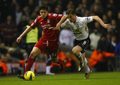 Có nhiều cơ hội hơn nhưng Liverpool (đỏ) không một lần thành công.