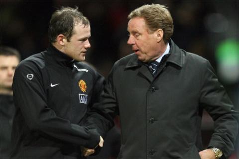 Redknapp nhận được sự ủng hộ của đông đảo giới chuyên môn và một số trụ cột trong tuyển Anh như Rooney.