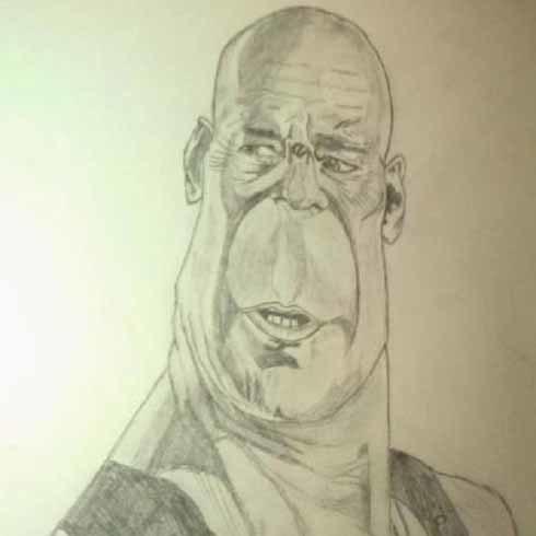 Bức họa Bruce Willis