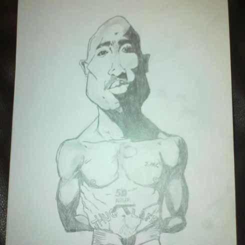 Ngôi sao nhạc rap Tupac.
