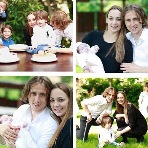 Sau khi có cậu nhóc Ivan, hạnh phúc của vợ chồng Modric như được nhân đôi khi người đẹp Vanja sinh cô bé Ema vào tháng 4 vừa qua.