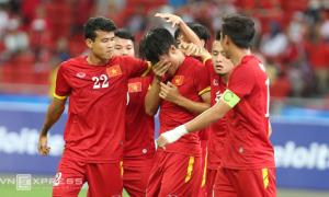 Mạc Hồng Quân suýt khóc sau khi ghi bàn vào lưới U23 Indonesia