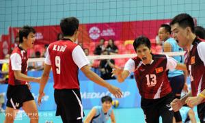 Việt Nam vào chung kết bóng chuyền nam SEA Games sau tám năm