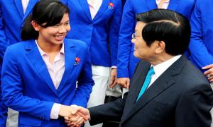 Chủ tịch nước đặc biệt ngợi khen Ánh Viên
