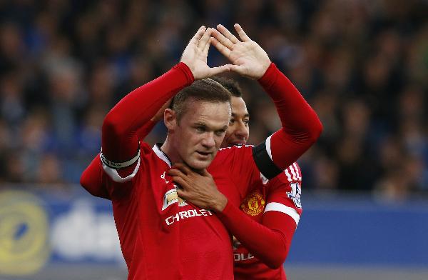 Rooney ghi bàn thắng thứ 187 tại Ngoại hạng Anh, cân bằng thành tích của Andy Cole và chỉ kém Alan Shearer. Ảnh: Reuters.