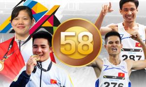 Điền kinh và bơi chiếm 46% số HC vàng SEA Games 29 của Việt Nam