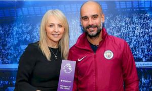 Guardiola nhận giải HLV hay nhất Ngoại hạng Anh ba tháng liền