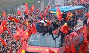 U23 Việt Nam được chào đón như những người hùng