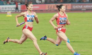 Đội chạy tiếp sức Việt Nam vượt Trung Quốc, đoạt HC đồng Asiad