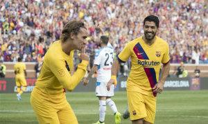 Griezmann lần đầu ghi bàn cho Barca