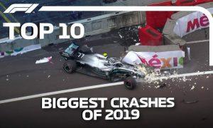 10 vụ va chạm lớn nhất F1 mùa 2019