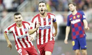 Atletico loại Barca ở Siêu Cup Tây Ban Nha