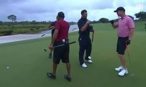 Woods thắng Mickelson ở trận golf từ thiện