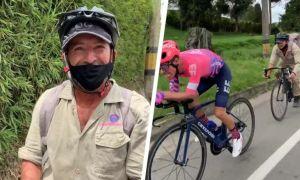 CĐV đua tài với Á quân Tour de France