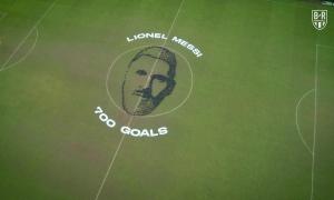 700 trái bóng xếp thành khuôn mặt Messi