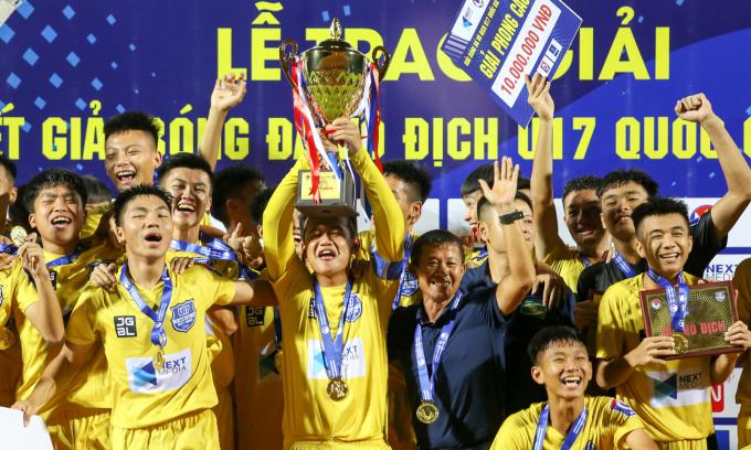 SLNA vô địch U17 Quốc gia