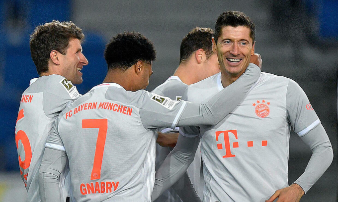 Bayern lên nhì bảng Bundesliga