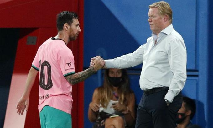 Koeman: 'Tôi đã thành thật với Messi và Suarez'