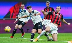 Milan phơi áo trước Atalanta