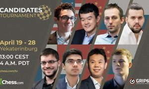 Giải cờ vua Candidates tái đấu hôm nay