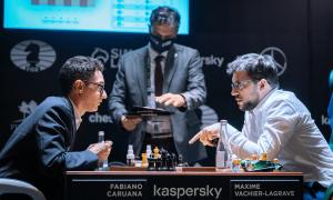 Caruana hạ Vachier-Lagrave khi nhớ 25 nước cờ