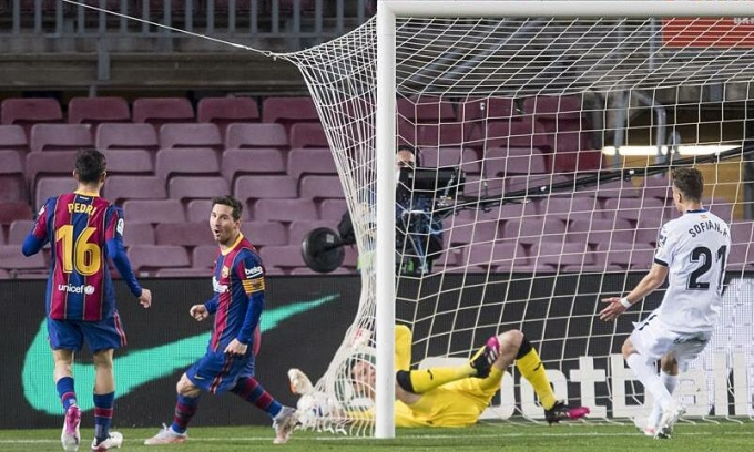 Messi ghi 22 bàn trong 4 tháng