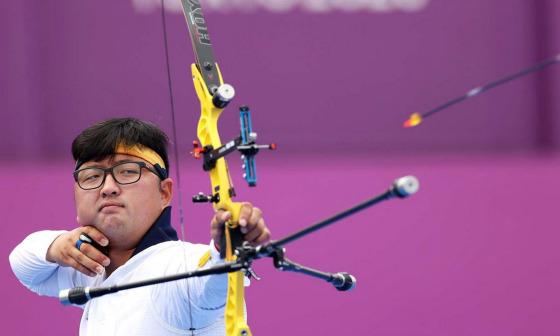 Cung thủ Hàn Quốc bắn toàn điểm 10