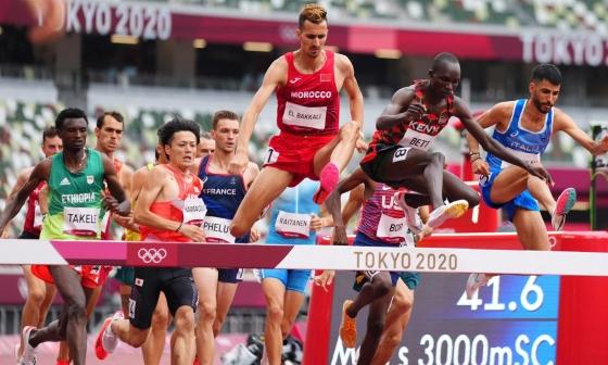 VĐV Morocco giành HC vàng 3000m vượt chướng ngại vật