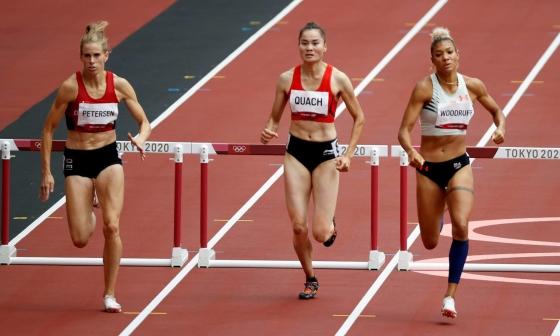 Quách Thị Lan về thứ sáu vòng loại bán kết 400m rào
