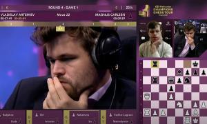 Vua cờ Carlsen mắc sai lầm sơ đẳng